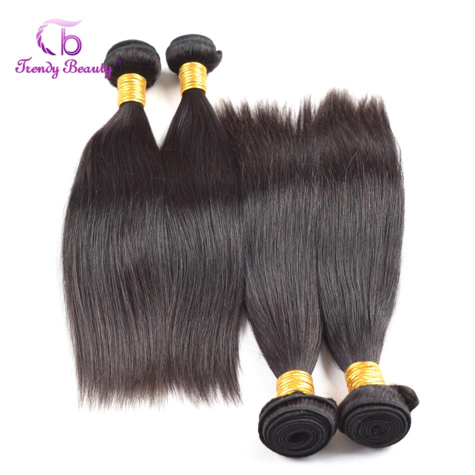 Brazilian Straight Hair 100% Human Hair 4 Bundles Per Lot Hair Weave Bundles 10-26 inches Natural Color Free Shipping Remy Hair
