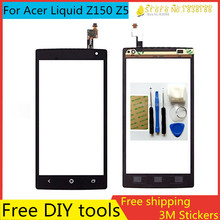 Free DIY Tools+3M Stickers Original New Touch Screen  For Acer Liquid Z150 Z5 Glass Capacitive sensor Touch Screen panel