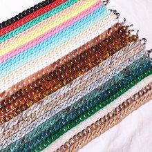 Модные женские цепочки для очков, широкие акриловые цепи, противоскользящий шнур для очков, держатель для очков, шейный ремешок, веревка для очков для чтения