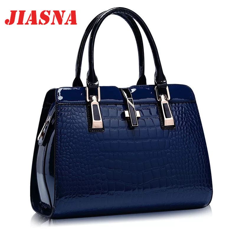 JIASNA Women Alligator Zipper Satchels Bags European and American Style Soft PU Famous Brands Luxury High Quality Women Bags  цена
