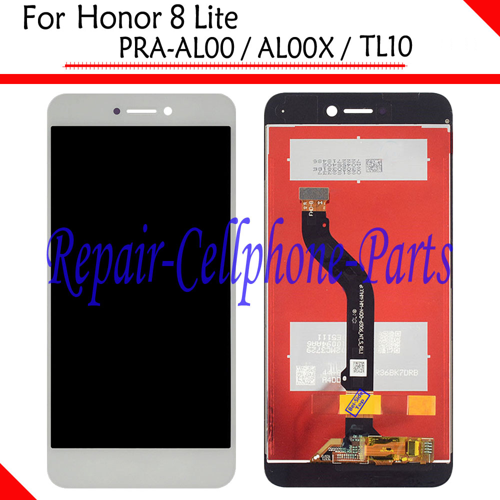 White New Full LCD <font><b>DIsplay</b></font> + Touch Screen Digitizer Assembly For <font><b>Huawei</b></font> <font><b>Honor</b></font> <font><b>8</b></font> <font><b>Lite</b></font> <font><b>PRA</b></font>-AL00 / AL00X / <font><b>TL10</b></font> image