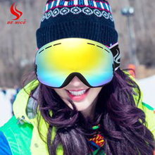 Be Nice Ski Goggles,Winter Snow Sports Snowboard Goggles with Interchangeable Spherical Dual Lens for Snowmobile Skiing Skating