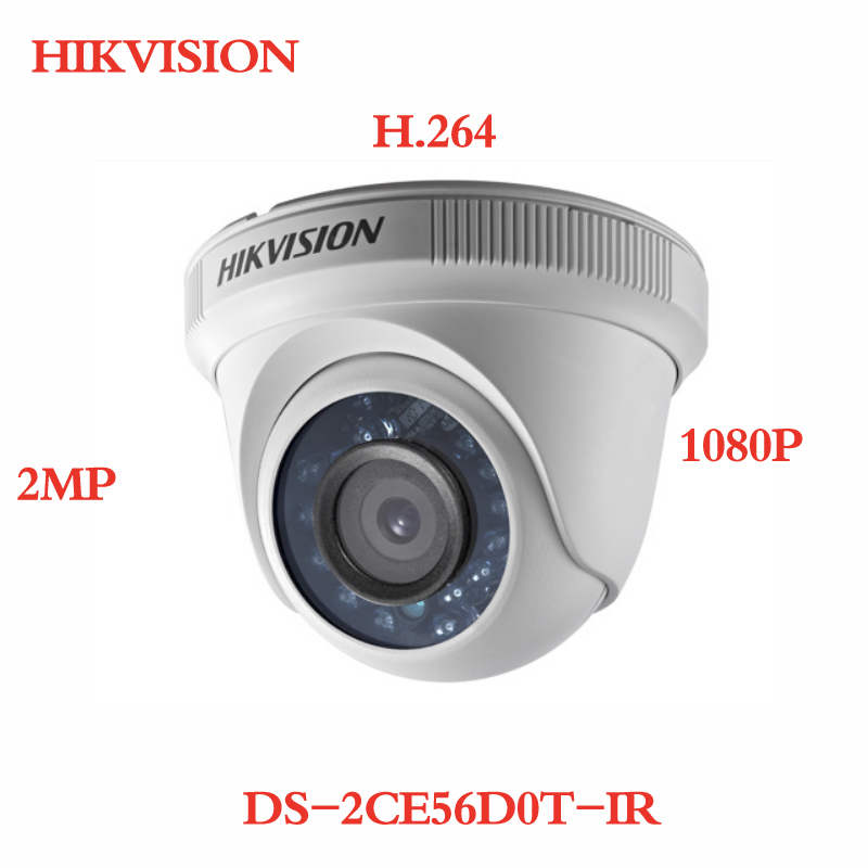 все цены на ANXIE Hikvision DS-2CE56D0T-IR HD 1080P Indoor IR Turret TVI Camera IP66 Weatherproof IR 20m 2MP CCTV TVI Camera H.264 онлайн