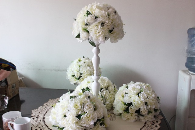 NEW!! 10pcs/lot wedding road lead artificial flower ball wedding ...