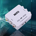 Mini Portable PAL to NTSC or NTSC TO PAL Bi-directional Dual-Way TV Format Video System Converter Composite Connection