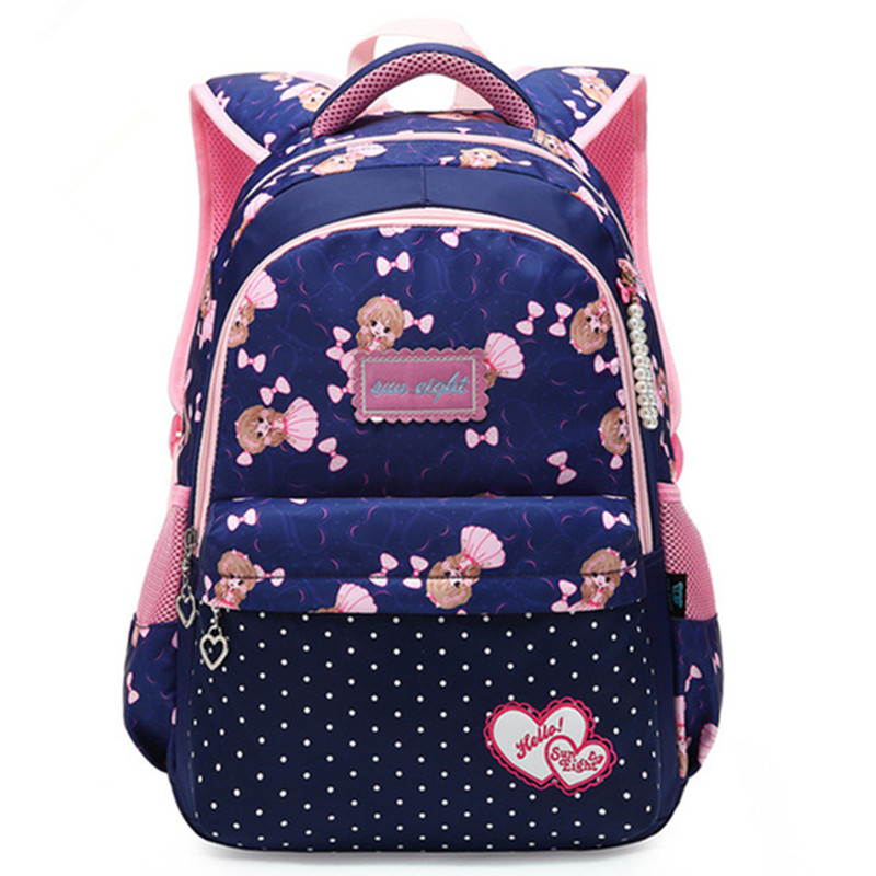 New Hit Color Kids Primary School Girl Backpack Bags Cartoon Children Student Backpacks Daypack Mochila Bag Princess Schoolbag ...