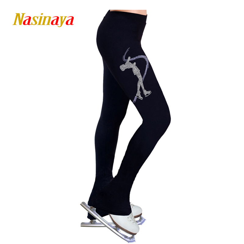 Customized Figure Skating Pants Long Trousers For Girl Women Training Competition Patinaje Ice Skating Warm Fleece Gymnastics 11