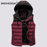Fur Sleeveless Jacket With Earphone Line Gift Burgundy Jacket Men With Fur Lining Warm Jacket Vest
