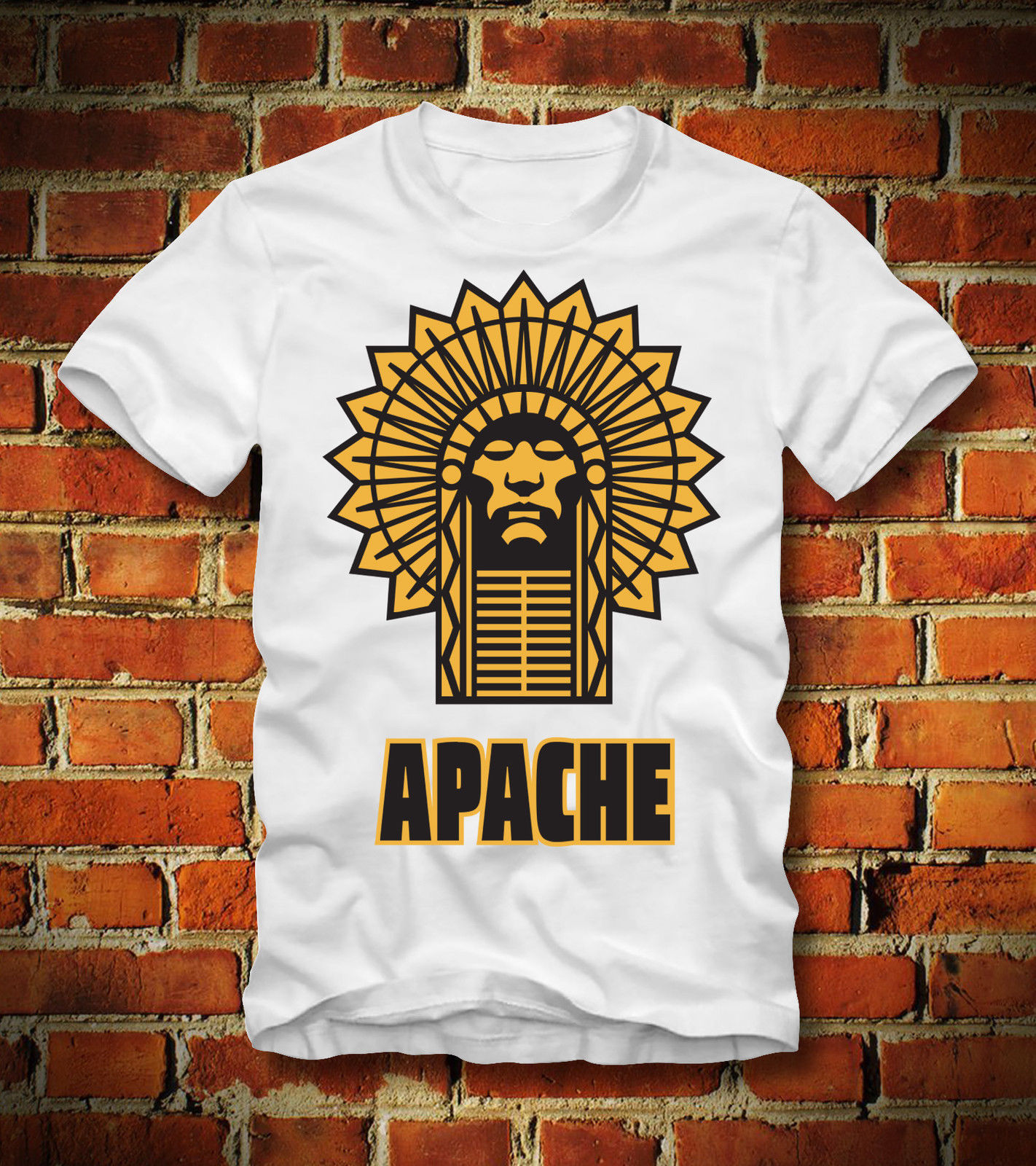 2018 New Summer Tee Shirt Funny T SHIRT APACHE Funny INDIANER RETRO VINTAGE AMERICAN MOTORCYCLE USA Custom T-shirt
