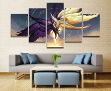 League of Legends Game 5 Piece HD Print Painting Wall Art Canvas Modern Home Decor Picture Printed Poster