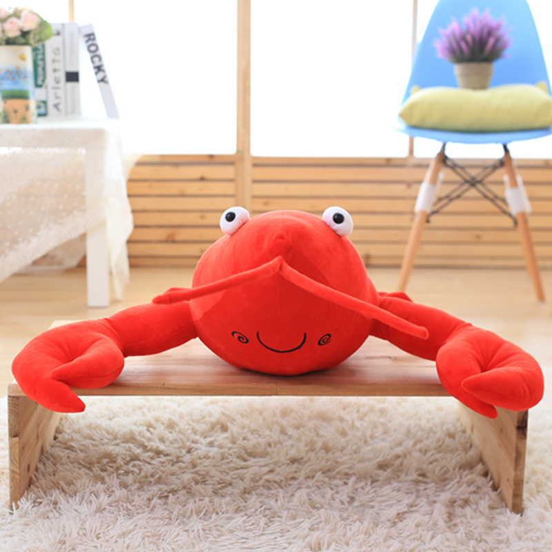 1PC Simulation Lobster Plush Toy Doll Stuffed Sea Animal lobster pillow Creative Soft Kid Toys 30 55 80cm in Stuffed Plush Animals from Toys Hobbies