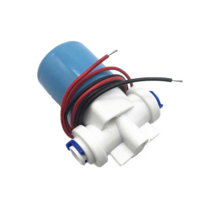 Free Shipping Plastic Solenoid Valve,12VDC For Drink Water 6.35mm(1/4