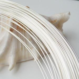 Fil d'argent, 1.8mm 13 calibre rond solide 925 fil d'argent sterling pour le bricolage de bijoux, fil de perles pour faire des bijoux, 1 mètre