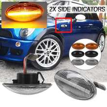 2x Flowing Side Repeater Lamp Dynamic LED Side Marker Light Error Free Panel Lamp For BMW for MINI Cooper R50 R52 R53 2002-2008