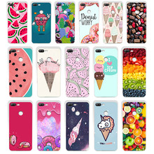 59SD Food Donuts Chocolate Ice Cream Cartoon gift Soft Silicone Tpu Cover phone Case for huawei Honor 8 9 Lite 8X p 9 lite 2016(China)