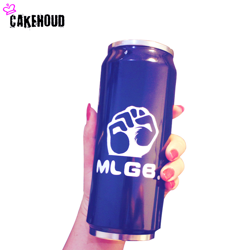 CAKEHOUD Creative Personality Stainless Steel Thermos Cup Student Bottle Straw Type Pop Top Bottle Lovers Bottle