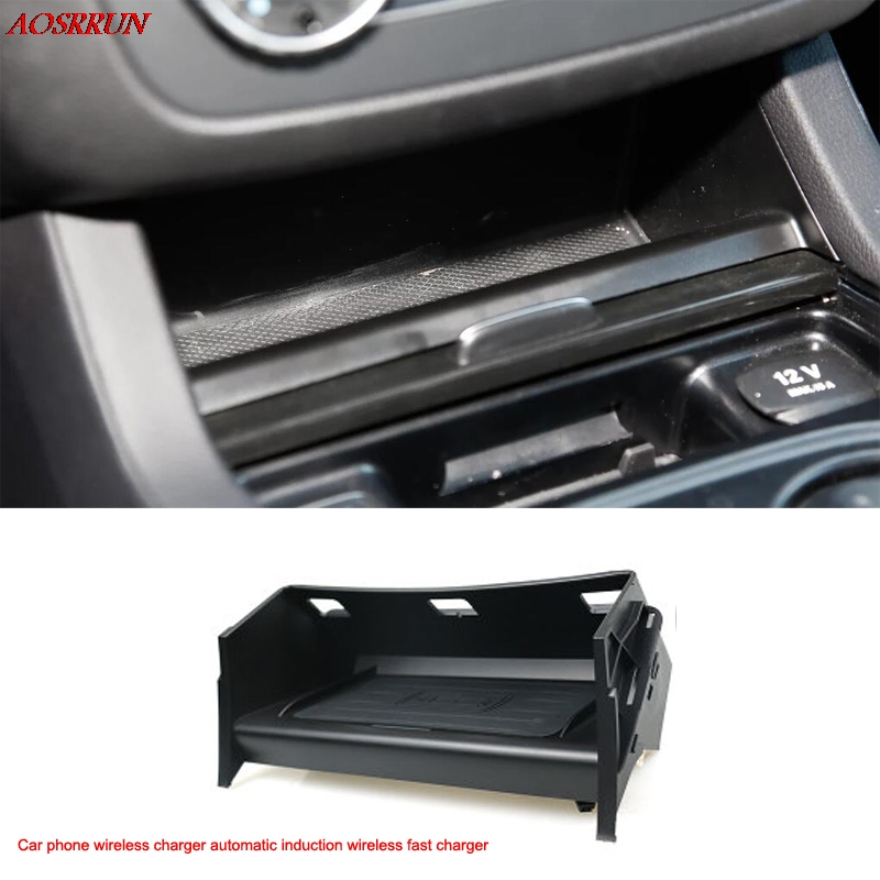 Per Mercedes Benz Classe GLE Coupé W166 C292 GLS X166 GL ML auto Qi caricatore senza fili del telefono adattatore 10 W ricarica rapida caso