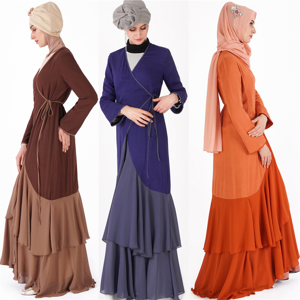 Paillettes Robe Musulmane Broderie Dentelle Femmes Modeste Maxi Robe Abaya Turquie Patchwork Longue Robe Caftan ClothesY510