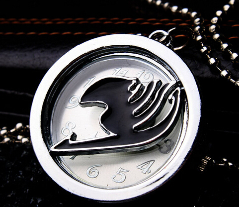 Fairy Tail quartz pocket watch necklace