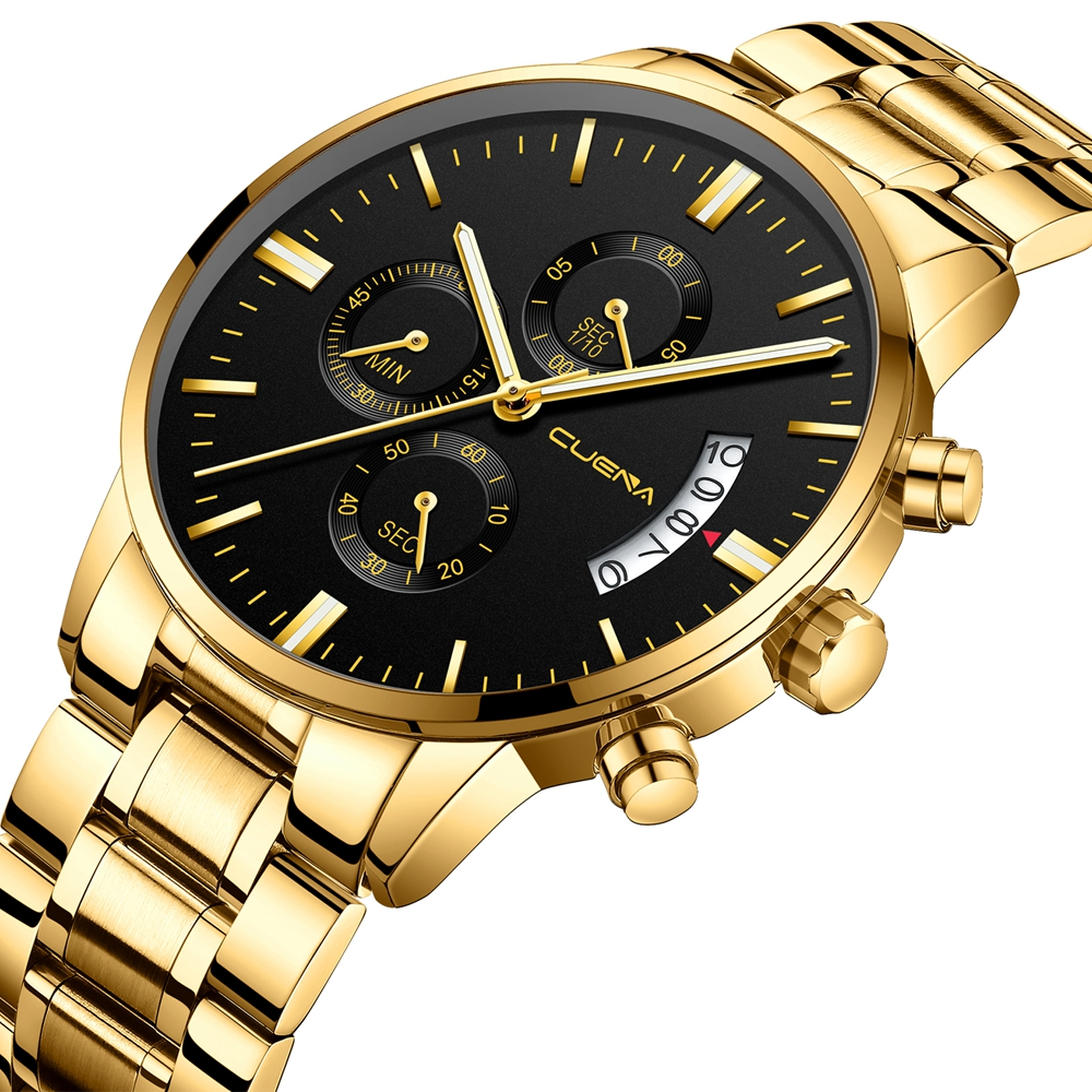 DROP SHIPPING Relogio Masculino Watch Men Gold And Black Mens Watches Top Brand Luxury Sports Watches 2019 Reloj Hombre