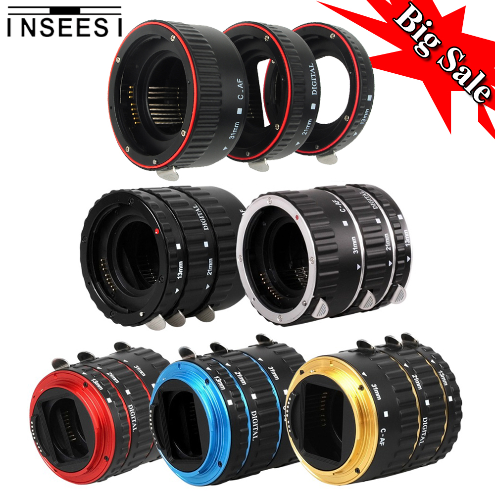 INSEESI Mount Metal AF Auto Focus Macro Extension Tube Ring Lens Adapter For Canon macro ring EOS EF 1Ds Series 7D 5D 5D MarkII 48mm t ring for canon eos 5d 1ds premeier astronomic telescopio
