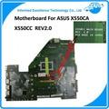 Em Estoque! original para asus x550ca x550cc motherboard rev2.0 i3-3217u ddr3 integrado 100% totalmente teste