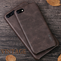 X-Level high quality vintage leather phone case for iphone 5 5s 6 6s 6 plus 7 7 plus case luxury back case cover