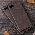 X-nivel de alta calidad de cuero de la vendimia del teléfono case para iphone 5 5s 6 6 s 6 plus 7 7 plus case lujo back case cubierta