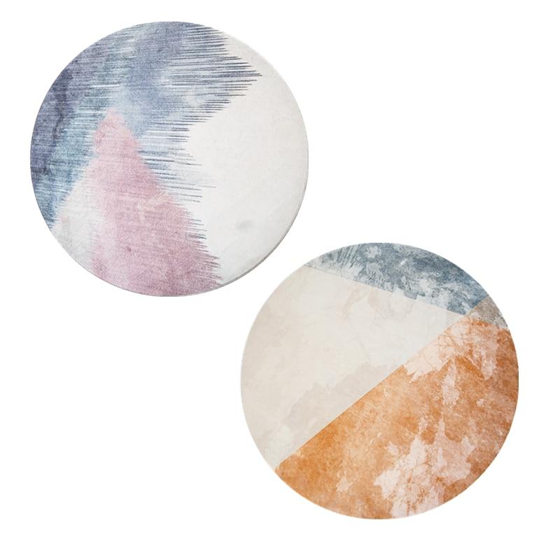 Tapis rond Style minimaliste nordique Loartee chambre salon cuisine salle d'étude décoration de la maison tapis tapis de chambre d'enfants Tapetes - 3