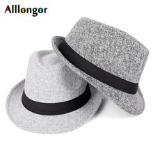 Осень, Зимняя мужская шляпа-федора, черная, sombrero, Fedora hombre, Ретро стиль, Дерби, джаз, шляпа, Трилби, красная