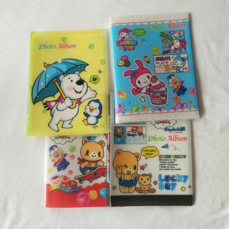 1 stück 7 zoll Fotoalbum Entzückende Cartoon Animals Bär/Hase Design Alben Mini...