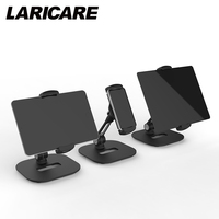 LARICARE LD 204D Aluminum Tablet Stand Adjustable With Black And White Color And Clamp For Ipad