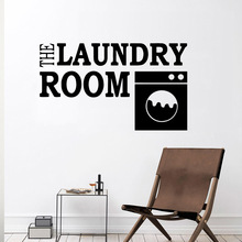 Fashion the laundry room Stickers Home Decoration Nordic Style Removable Wall Sticker Accessories