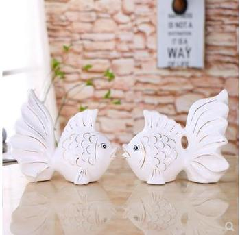 Home accessories, 2018 creative ceramic fish, wedding crafts gifts