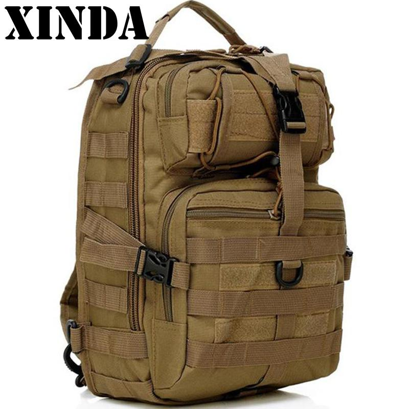 Military Tactical Assault Pack Sling Backpack Army Molle Waterproof EDC Rucksack Bag for Outdoor Hiking Camping Hunting 20L New 20l outdoor hiking camping hunting molle 3p military tactical backpack male nylon army pack mochila military tactical bag