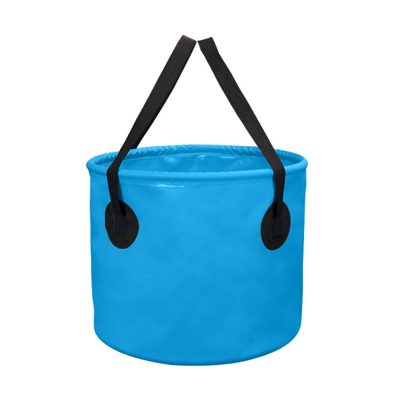 10L 20L Outdoor Folding Water Bucket Portable Camping Fishing Waterproof Bucket Fishing Tackle Tools 500D PVC net clamping cloth mw light бра mw light тропик 689020401