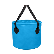 10L 20L Outdoor Folding Water Bucket Portable Camping Fishing Waterproof Bucket Fishing Tackle Tools 500D PVC net clamping cloth