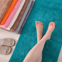 Soft Shaggy Cotton Bathroom Rugs Solid Absorbent Non slip Durable Absorbent Bath Carpet for Bathroom/ Doormat/Floor Mat/Kitchen