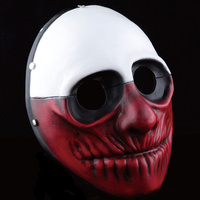 Terror Halloween Theme Game Resin Mask Harvest Day Series Mask Decoration 3 Kind colors Masquerade Mask Props High Quality