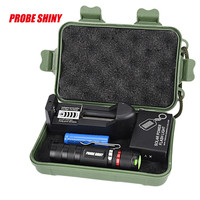 Yimistar #4066X New G700 Zoomable XML Q5 LED Tactical Flashlight+14500 Battery+Charger+Case