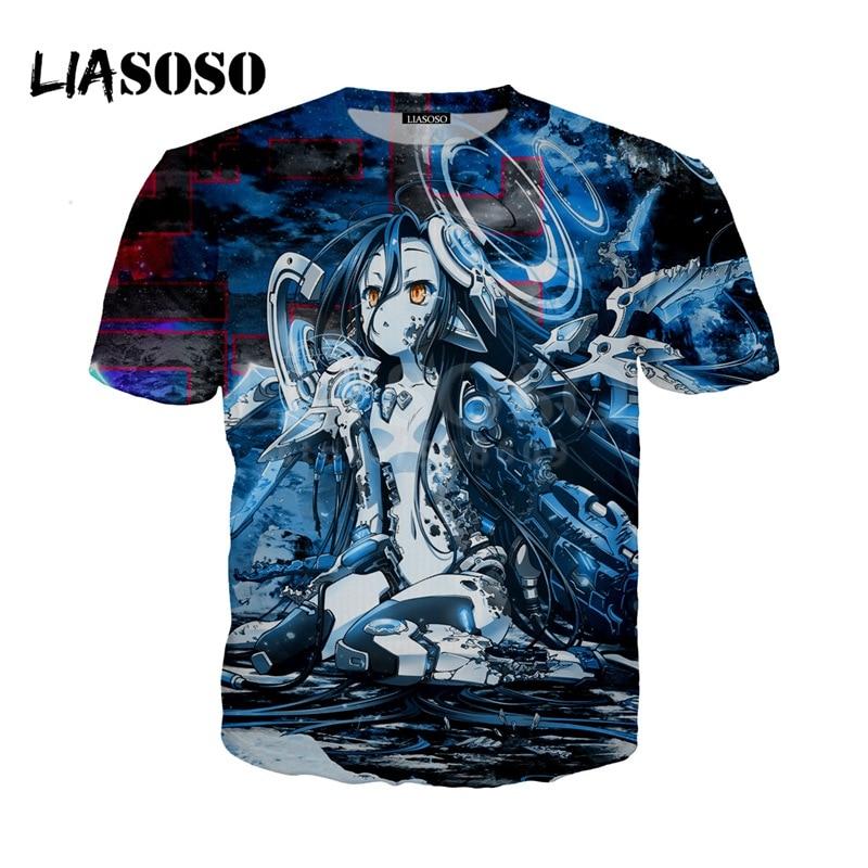 LIASOSO NEW Anime No Game No Life Kawaii Tees 3D Print t shirt/Hoodie/Sweatshirt Unisex Cosplay Hipster Good Quality Tops G1457