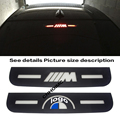 for Car BMW New 3 7 5 series 320 328 F30 F35 E90 E92 E93 Acrylic Brake Lights Decorative Cover High Mount Stop Lamp M LOGO