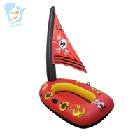 Children Summer Pool SwimmingToy Inflatable Pirate Boat Pool Floats Water Sport Toy Beach Fun Air Raft
