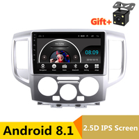 10.1 2.5D IPS Android 8.1 Car DVD Multimedia Player GPS for Nissan NV200 2010 2011 2014 audio car radio stereo navigation wifi