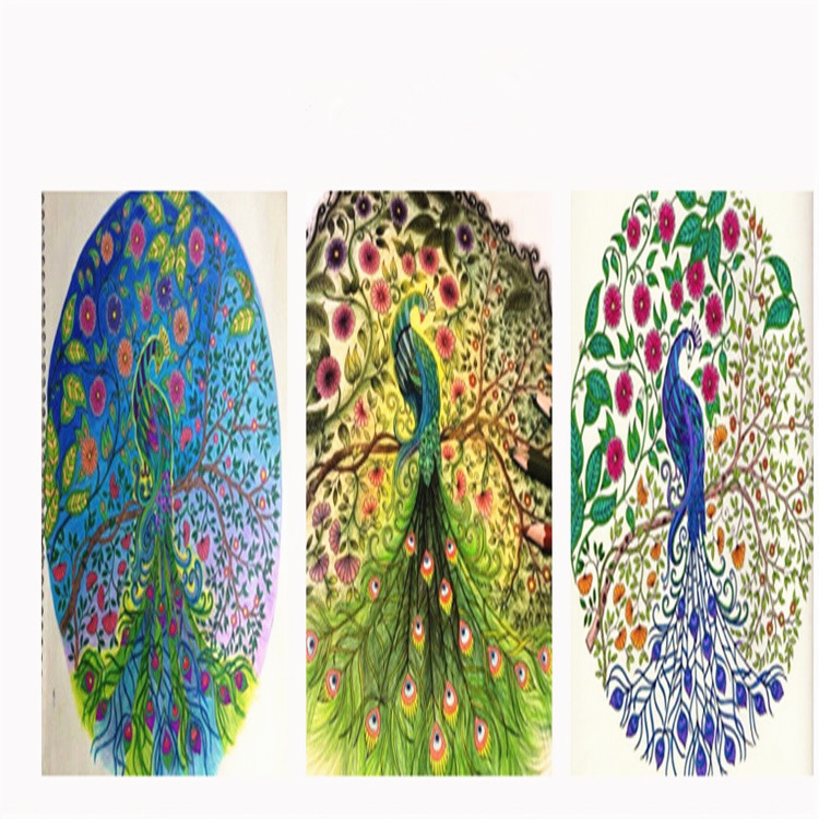Secret Garden Coloring Book Magic Wonderland Enchanted Forest Relieve Stress Painting Drawing BookGift 12 Colors Pencil In Books From Office School