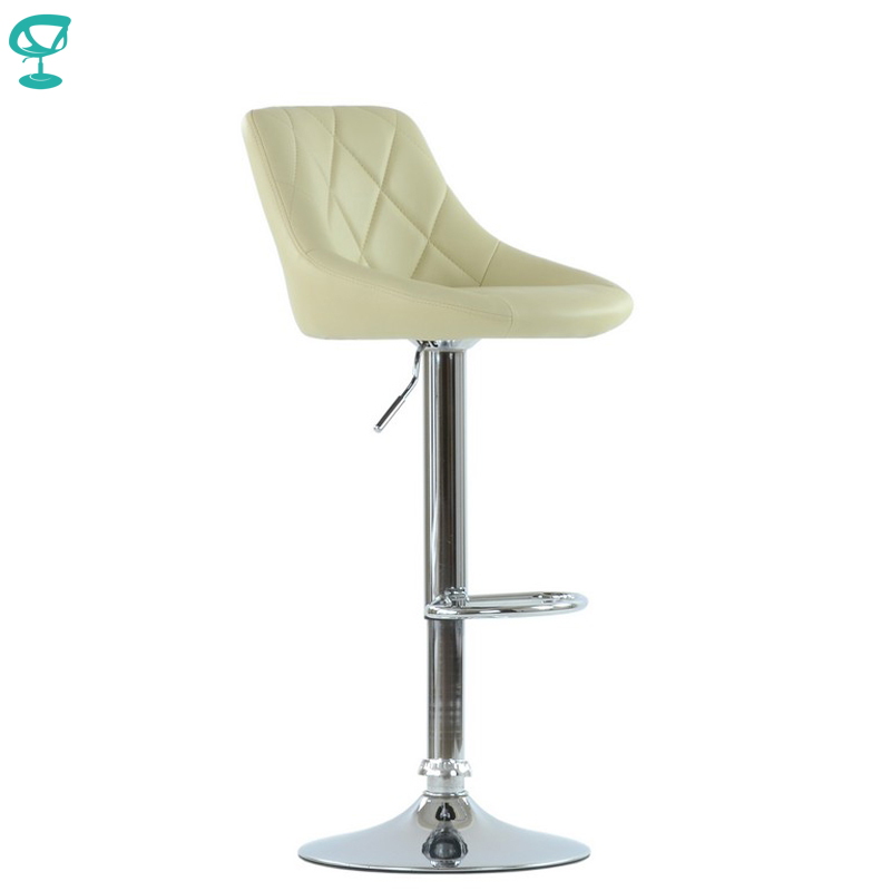 95531 Barneo N-83 Comfort Leather Kitchen Breakfast Bar Stool Swivel Bar Chair Beige Color Free Shipping In Russia