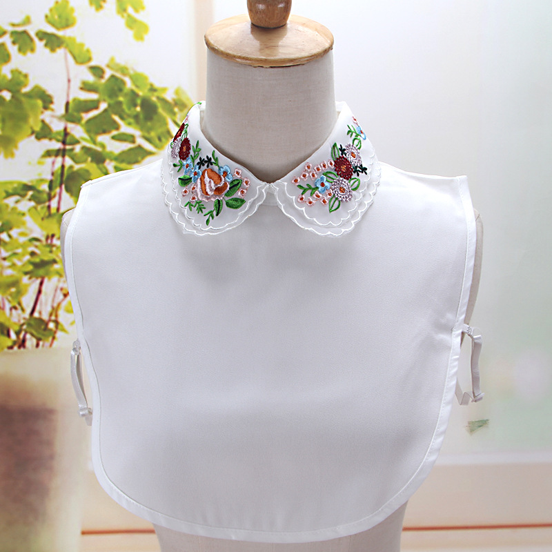 Women Embroidery Fake Collar Blouse Detachable Collar For Women Clothes Accessories False Collar W64