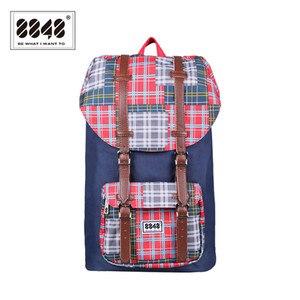 Image 1 - حقيبة ظهر للسفر من علامة تجارية 8848 حقيبة ظهر مقاومة للماء مقاس 15.6 بوصة حقيبة ظهر من مادة البوليستر بتصميم هندسي S15005 6