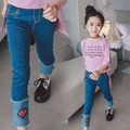 Girl jeans 2017 spring and autumn new women's jeans children's jeans Korean casual pants