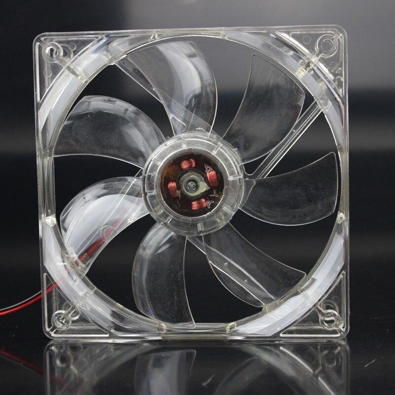 20 штук в партии Gdstime синий 120 мм 12 см 12025 120 мм x 25 мм 4Pin 12 В охлаждающий компьютер ПК светодиодный вентилятор